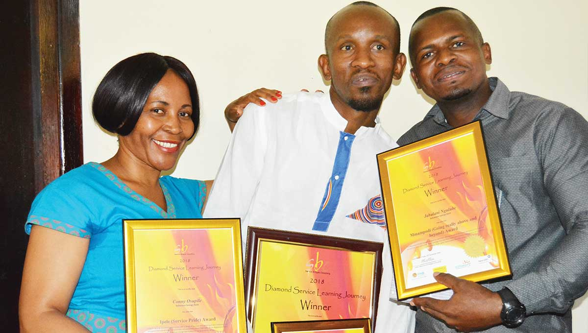 Botswana Savings Bank Employees Scoop customer service awards