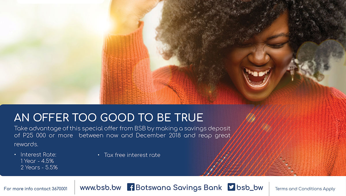 Botswana Savings Bank Launches A Special Savings Promotion